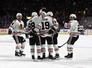 Mar 14, 2017; Montreal, Quebec, CAN; Chicago Blackhawks forward <a rel=