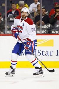 Feb 24, 2016; Washington, DC, USA; Montreal Canadiens defenseman Andrei Markov (79) skates against the Washington Capitals at Verizon Center. Mandatory Credit: Geoff Burke-USA TODAY Sports
